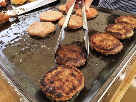 カンティーヌマシューの、ちがさき牛のハンバーガー