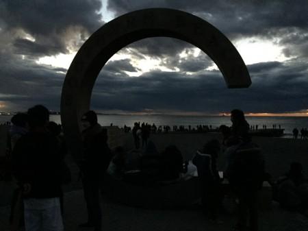 茅ヶ崎サザンビーチの初日の出