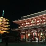 浅草寺ライトアップと東京スカイツリー