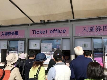富士芝桜まつり 入場券売り場