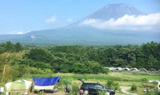 おいしいキャンプ場で富士山