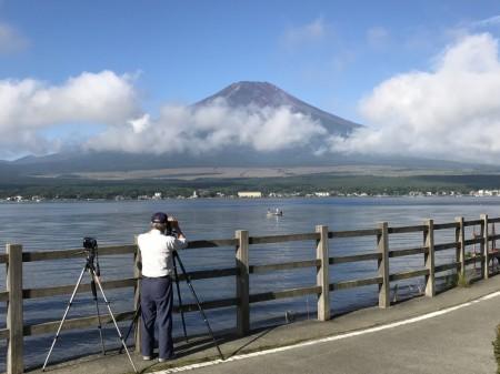 長池親水公園から富士山