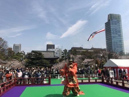 増上寺、御忌大会の舞楽奉納