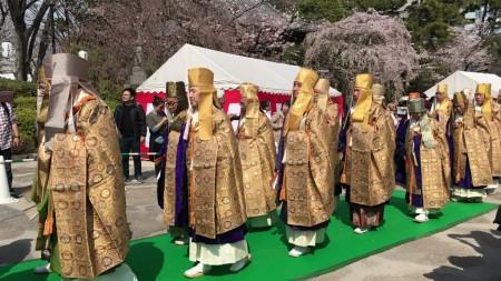 増上寺、御忌大会の練行列