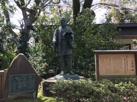 報徳二宮神社の二宮尊徳翁像