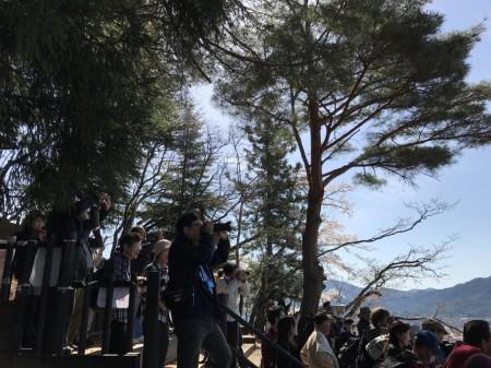 新倉山浅間公園の展望デッキ