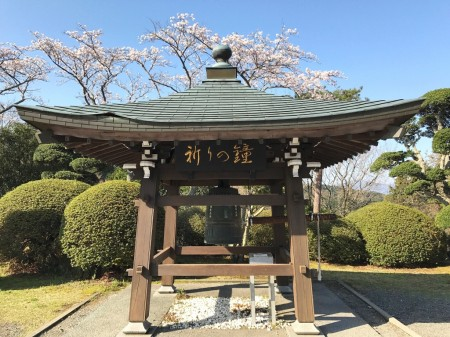 御殿場平和公園の桜と祈りの鐘