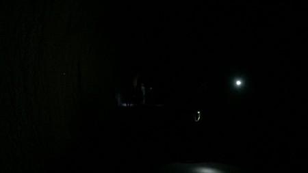 ユーシン渓谷 新青崩隧道の中