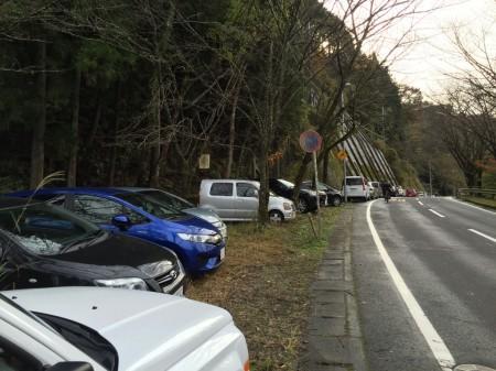 ユーシン渓谷駐車スペース