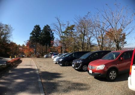 山中湖夕焼けの渚の駐車場
