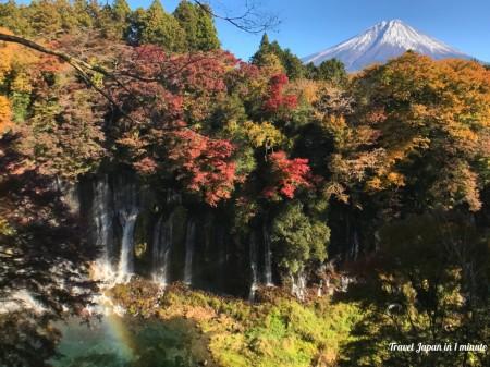 白糸の滝と富士山