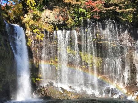 白糸の滝と虹
