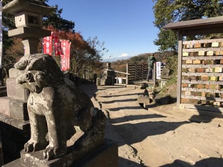建長寺 半僧坊の富士見台