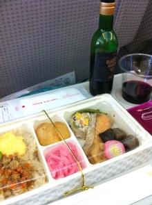 グアム行きJALの機内食