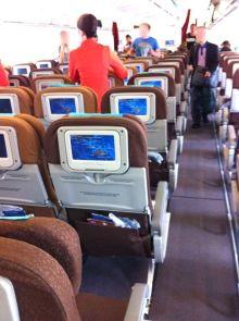 ガルーダインドネシア航空の機内2