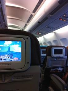 ガルーダインドネシア航空の機内